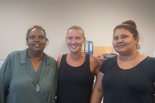 Image of three ladies from Broome